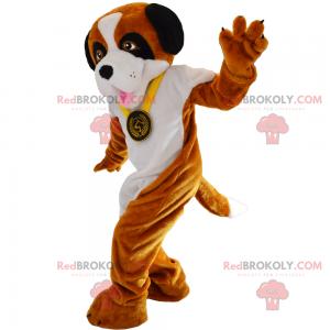 Hundemaskottchen mit Medaille - Redbrokoly.com