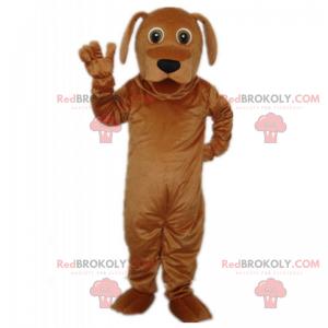 Hnědý pes maskot s dlouhými ušima - Redbrokoly.com