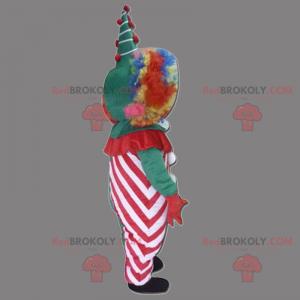 Clown mascotte met regenbooghaar - Redbrokoly.com