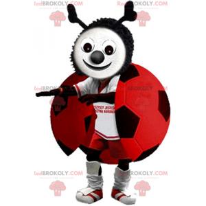 Ladybug mascot in soccer gear - Redbrokoly.com