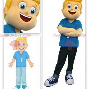 Maskott blond gutt med fregner - Redbrokoly.com