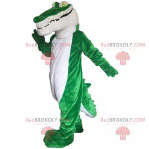 Krokodilmaskottchen mit grünen Augen - Redbrokoly.com