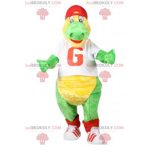 Maskotka krokodyla w odzieży sportowej - Redbrokoly.com