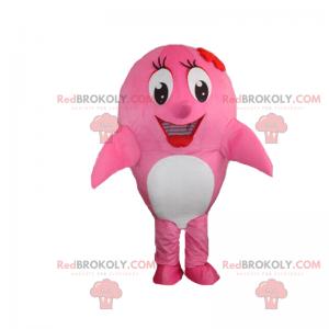 Mascotte roze dolfijn - Redbrokoly.com