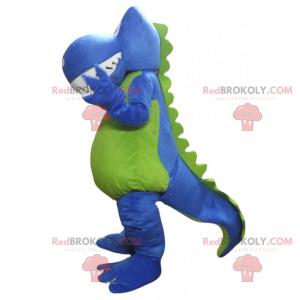 Modrý maskot dinosaura a zelené břicho - Redbrokoly.com