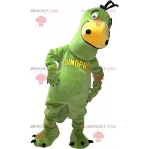 Zelený dinosaurus maskot - Redbrokoly.com
