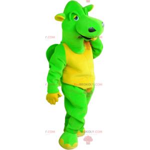 Grønn drage maskot - Redbrokoly.com