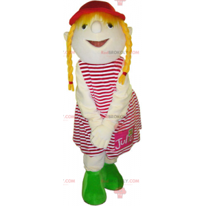 Little girl mascot with quilts - Redbrokoly.com