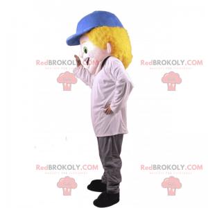 Boy mascot with blue cap - Redbrokoly.com