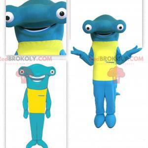Maskot žralok kladivoun se žlutým tričkem - Redbrokoly.com