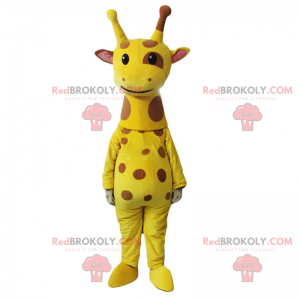 Strakatý žirafa maskot - Redbrokoly.com