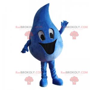 Happy water drop mascot - Redbrokoly.com