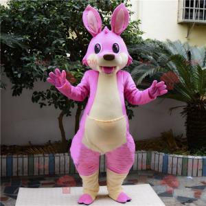 Mascote canguru rosa - Redbrokoly.com