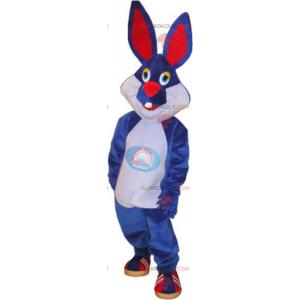 Modrý králík maskot - Redbrokoly.com