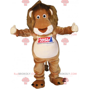 Lion mascot with a white belly - Redbrokoly.com