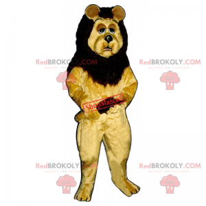Maskot lva s ospalým vzhledem - Redbrokoly.com