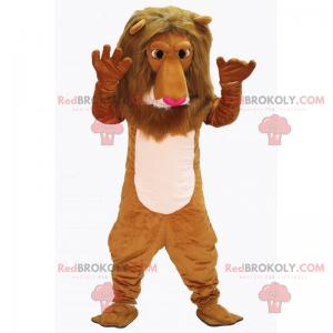 Maskot lva s růžovým nosem - Redbrokoly.com