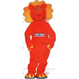 Oranžový lev maskot - Redbrokoly.com