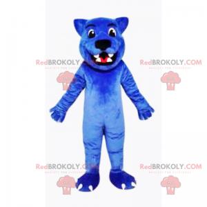 Blue wolf mascot - Redbrokoly.com