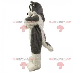 Šedý vlk maskot - Redbrokoly.com