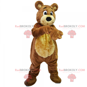 Mascotte di lontra in abito da sci - Redbrokoly.com