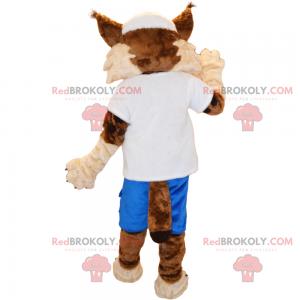 Mascote Lynx em roupas esportivas - Redbrokoly.com