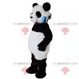 Panda maskot s hudební sluchátka - Redbrokoly.com
