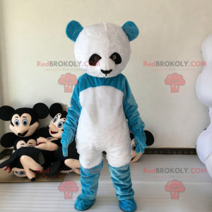 Blaues Panda-Maskottchen - Redbrokoly.com