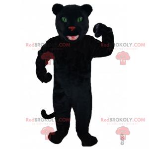 Black panther mascot and green eyes - Redbrokoly.com