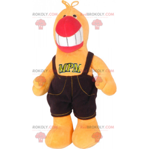 Papegaaienmascotte in overall - Redbrokoly.com