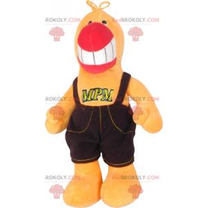Parrot mascot in overalls - Redbrokoly.com
