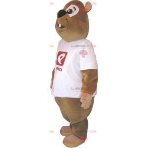 Mascota del loro rojo en monos verdes - Redbrokoly.com