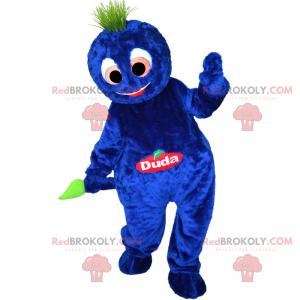Character mascot - Soft blue snowman - Redbrokoly.com