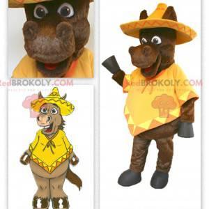 Mexican donkey mascot - Redbrokoly.com