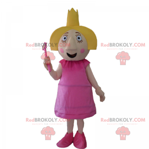 Character mascot - Fairy with a crown - Redbrokoly.com