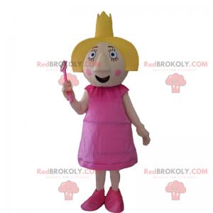 Mascota de personaje - Hada con corona - Redbrokoly.com