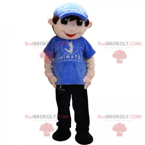 Maskotka postaci - chłopiec w dresie i czapce - Redbrokoly.com