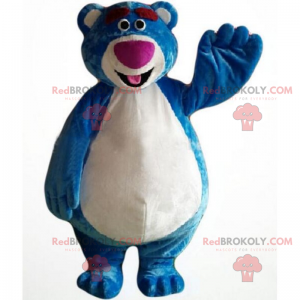 Karaktermaskot - Blå bjørn - Redbrokoly.com