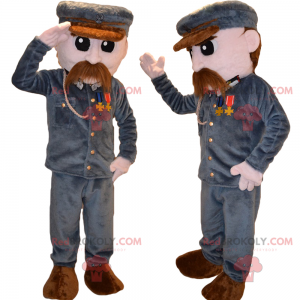 Mascotte personaggio - Soldato con i baffi - Redbrokoly.com