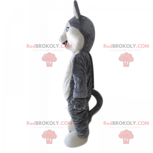 Little gray and white wolf mascot - Redbrokoly.com
