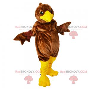 Little brown bird mascot - Redbrokoly.com