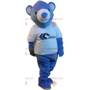 Malý modrý medvěd maskot - Redbrokoly.com