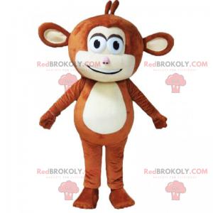 Malý hnědý opice maskot - Redbrokoly.com
