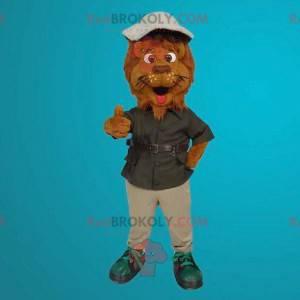 Lion brown tiger mascot - Redbrokoly.com