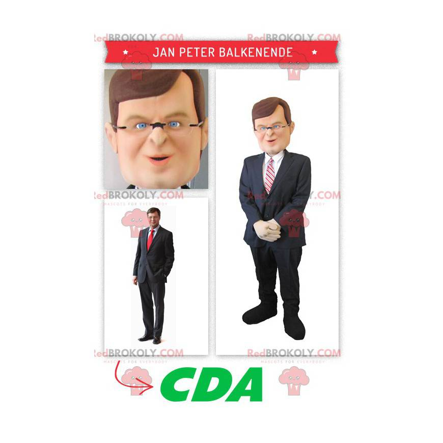 Dutch politician Jan Peter Balkenende mascot - Redbrokoly.com
