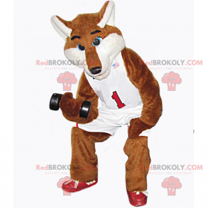 Fuchsmaskottchen im Basketballoutfit - Redbrokoly.com