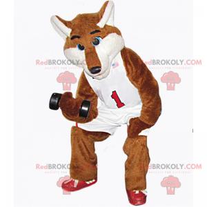 Maskot Fox v basketbalovém oblečení - Redbrokoly.com