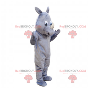 Grå noshörningsmaskot - Redbrokoly.com