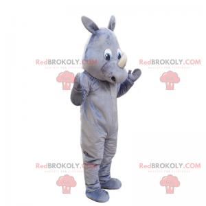 Mascote rinoceronte cinza - Redbrokoly.com