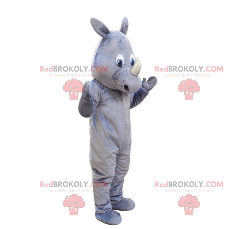 Gray rhino mascot - Redbrokoly.com